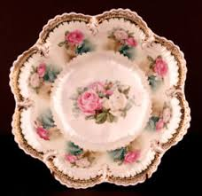 rs prussia bowl roses antique rs prussia bowl beautiful pearl iridescent glossy roses