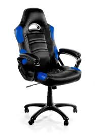 Computer Gaming Desk Chair Height Back Desk Chair With Sporty Black And Blue Cushioned
