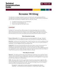 Resume Writing Tips Objective write objective for resume city espora co