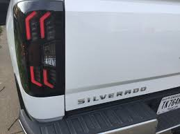 2011 chevy silverado smoked tail lights winjet led smoked taillights for the 2014 2015 chevrolet silverado