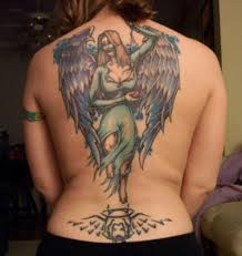 the best of tattoo ideas angel tattoo on back women
