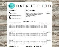 Creative Resume Templates For Microsoft Word Professional Resume Template Instant Download Modern Cv