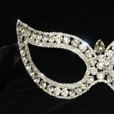 rhinestone masquerade masks rhinestone eye venetian masquerade mask 7in wide x 2 1 2in