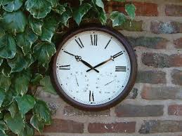 outside wall clocks garden antique rust outdoor clock and