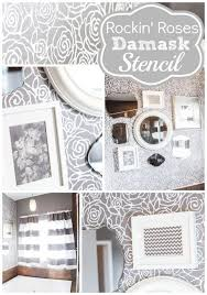 bathroom wall stencil ideas 48 best color me gray images on wall stenciling