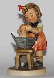 m j hummel doll bath vintage porcelain figurine ideas