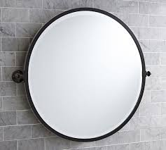 wall mounted bathroom mirrors round vs oval bathroom mirrors http www potterybarn com