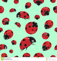 ladybug wrapping paper summer seamless pattern with ladybirds stock vector illustration
