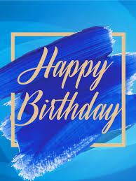 blue paint happy birthday card if you a who is
