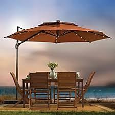 11 foot round solar cantilever umbrella bed bath u0026 beyond