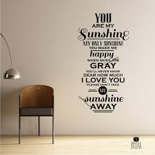 You Are My Sunshine Wall Decor You Are My Sunshine Wall Decals Wall Decals Wall Stickers