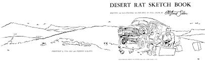 clifford saber desert rat sketch book 1959 foreword