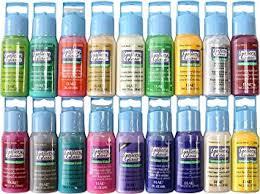 color and paint amazon com plaid gallery glass window color paint set 2 ounce