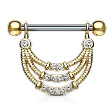 nipple rings images Triple lined egyptian 316l surgical steel nipple ring jpg