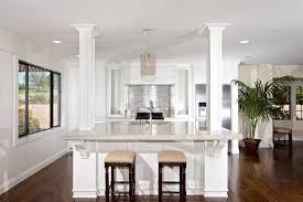 Kitchen Island Spacing Transitional Kitchen With Kitchen Island High Ceiling Breakfast