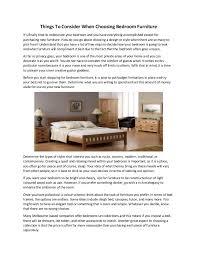 Choosing Bedroom Furniture Things To Consider When Choosing Bedroom Furniture