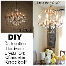 Chandelier Restoration Diy Crystal Orb Chandelier Restoration Hardware Knockoff Tutorial