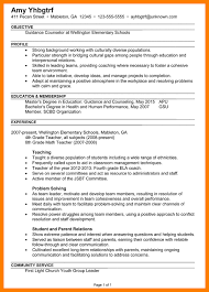 guidance counselor resume school counselor resume paso evolist co