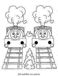 thomas picture coloring