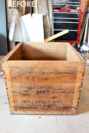How To Make A Wooden Toy Box With Lid by Diy Toy Chest With Lid From Vintage Shipping Crate Taryn Whiteaker