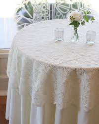 What Size Tablecloth For 60 Inch Round Table Dining Room The 25 Best Lace Tablecloth Wedding Ideas On Pinterest