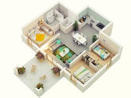 Small Flat Floor Plans by 3d Design For The Apartment Like Home With Small Living Area