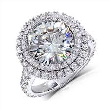 moissanite vintage engagement rings vintage halo cut 11 mm moissanite