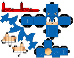 Sonic The Hedgehog Papercraft - classic running sonic the hedgehog by mikeyplater on deviantart