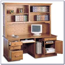 Oak Computer Desk With Hutch by Computer Desk And Hutch Combinations Desk Home Design Ideas