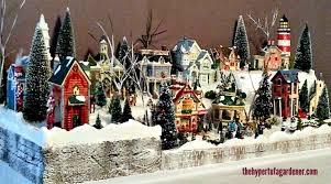 christmas villages oh what a miniature christmas set the hypertufa gardener