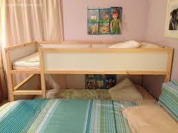 side view of our split level family bed cosleeping cosleeping