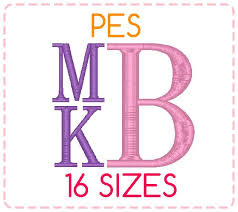 stacked monogram 16 sizes pes format stacked monogram font embroidery designs