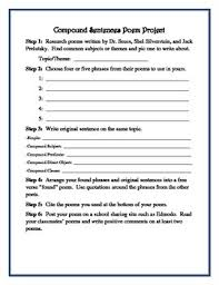 construction compound sentences worksheets quiz and project