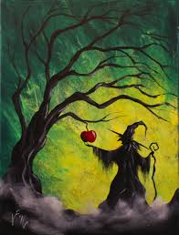 enchanted apple step by step acrylic painting on canvas for