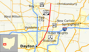 Map Dayton Ohio by Ohio State Route 201 Wikipedia