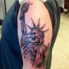 liberty skull by mike shishmanian hudson valley tattoo
