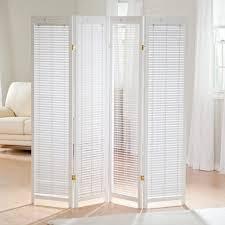 Ebay Room Divider - finley home tranquility wooden shutter room divider white wood 4
