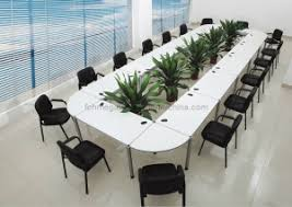 Detachable Conference Table Melamine Modern Detachable Modular Conference Table In White