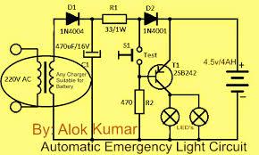 make a automatic electronic emergency light circuit led light li