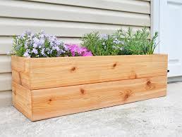 Modern Wood Planter by Diy Modern Cedar Planter Buildsomething Com