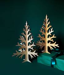 30cm 11 8in laser cut plywood table top tree rustic
