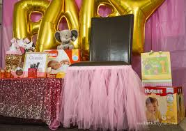 pink and gold princess elephant baby shower ideas horrible housewife