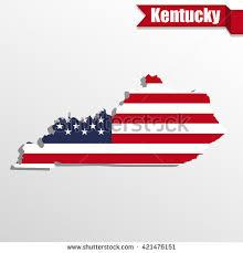 kentucky flag map map state kentucky american flag stock vector 3020480
