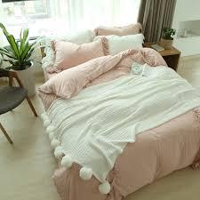 Ruffled Bed Set Ruffled Bedding Set Pink Bedspread Ruffle Bedding Bed Linen 100