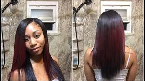 weave no leave out hairstyle brazillian natural quick weave tutorial with minimum leave out youtube