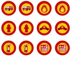 firefighter cupcake toppers https s media cache ak0 pinimg originals e1 47 11