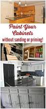 how to paint kitchen cabinets no painting sanding tutorials