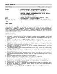 Oracle Dba Sample Resumes by Sample Dba Resume S Trainer Resume Regional S Trainer Sample