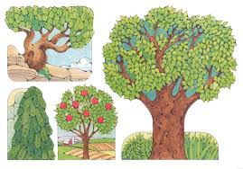 primary visual aids cutouts 3 16 large tree with grass 3 17