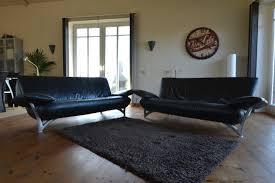 Black Leather Sofa Sets Rolf Benz Black Leather Sofa Set Room Of Art